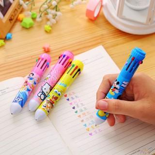 Bộ bút 10 màu và thước kẻ vẽ cho bé