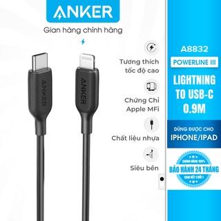 Cáp Anker PowerLine III USB-C to Lightning, 0.9m - A8832 thumbnail