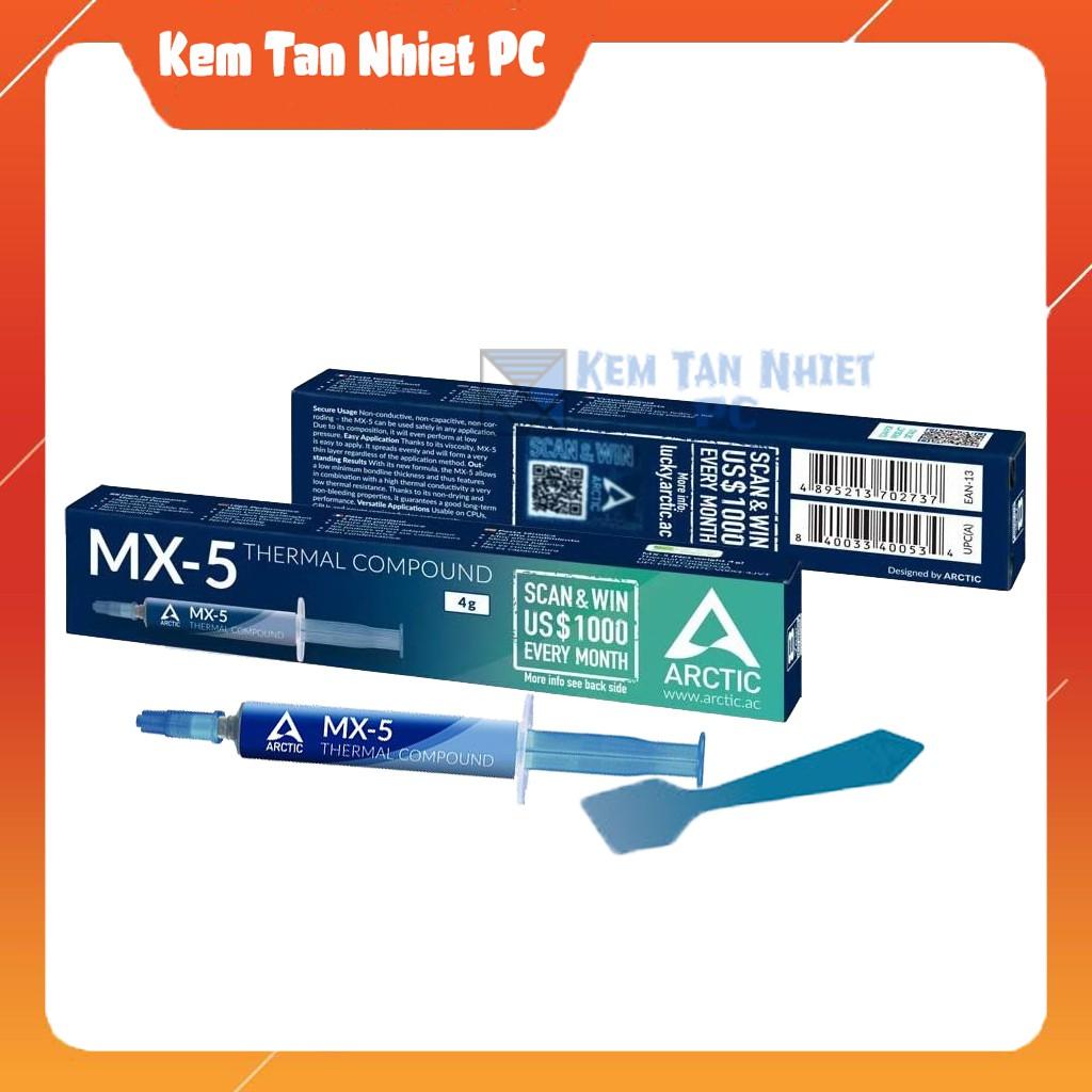 Keo tản nhiệt Arctic MX4 4g/ MX5 4g chính hãng