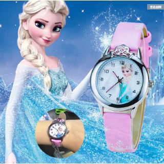 Mới Đồng Hồ Thạch Anh Đeo Tay Kiểu Hoạt Hình Frozen Đáng Yêu Cho Bé