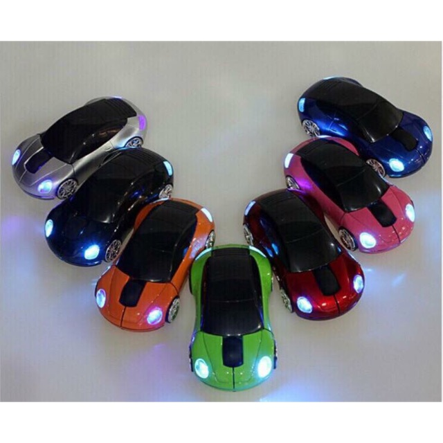 Chuột ko dây xe hơi có đèn bảo hành 6 tháng