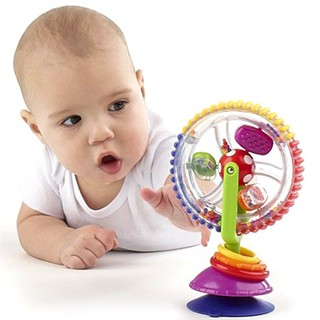 Baby Rattle Toys Creative Rotating Windmill Tricolor Ferris Wheel with Sucker