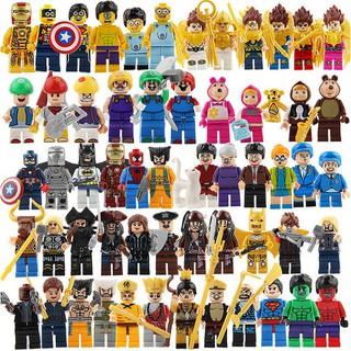 【50 PCs Set】 Superhero Cartoon Lego Compatible Minifigures Building Block Figurine