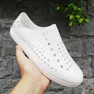Giày nhựa đi mưa nam nữ WNC NATIVE - Chất liệu nhựa xốp EVA siêu nhẹ, không thấm nước - Màu Trắng thumbnail
