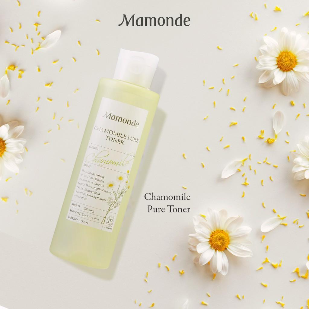 Nước cân bằng dưỡng ẩm thiết yếu dịu nhẹ cho da nhạy cảm Mamonde Chamomile  Pure Toner 250ml | Shopee Việt Nam