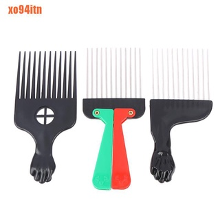Salon Black Fist Afro Metal Comb African Hair Comb Hairdressing Styling To