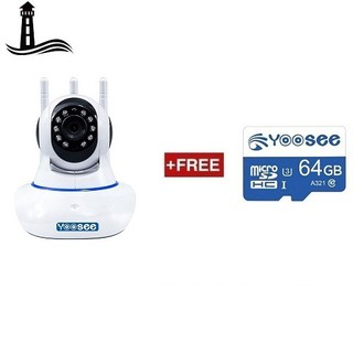 [Tặng thẻ nhớ 64Gb] Camera IP Wifi Yoosee 3 Râu HD720P 11 đèn hồng ngoại đàm thoại 2 chiều