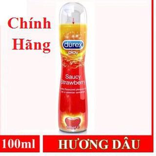 Gel Bôi Trơn Hương Dâu Durex Strawberry cao cấp 100ml [Cam Kết Chính Hãng]