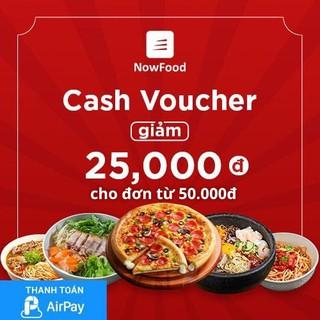 Hình ảnh (TPHCM-Hà Nội-Đà Nẵng) [E-Voucher] Đặt món NowFood 25K (đơn từ 50K) - Áp dụng cho Quán Đối Tác, thanh toán bằng AirPay-0