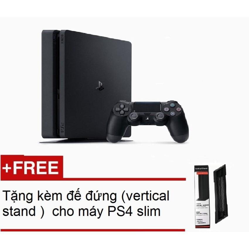 Máy Sony PlayStation PS4 Slim 500Gb CUH2006A (Đen) + Tặng kèm đế đứng (vertical stand ) cho máy PS4