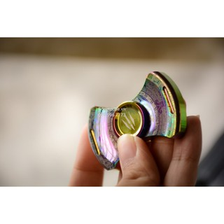 MONSTER Stubby Spinner 2 Cánh – Stainless Steel Rainbow