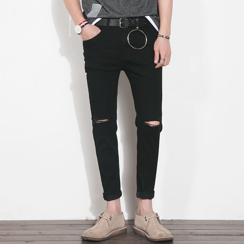 Quần Jean rách gối Skinny Nam + Tặng kèm dây lưng thời trang (hàng order)
