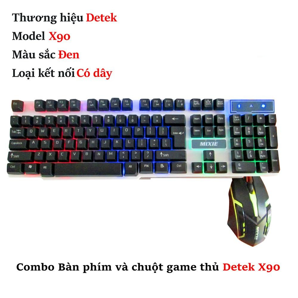 Combo Bàn phím và chuột game thủ Detek X90 - 2570257 , 1250202469 , 322_1250202469 , 179000 , Combo-Ban-phim-va-chuot-game-thu-Detek-X90-322_1250202469 , shopee.vn , Combo Bàn phím và chuột game thủ Detek X90