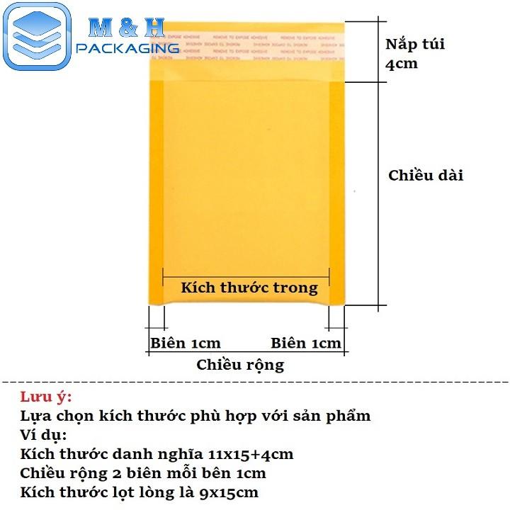 ⚡️[13x23+4cm] Túi giấy bóng khí (kraft) - bao bì đóng gói hàng hóa an toàn