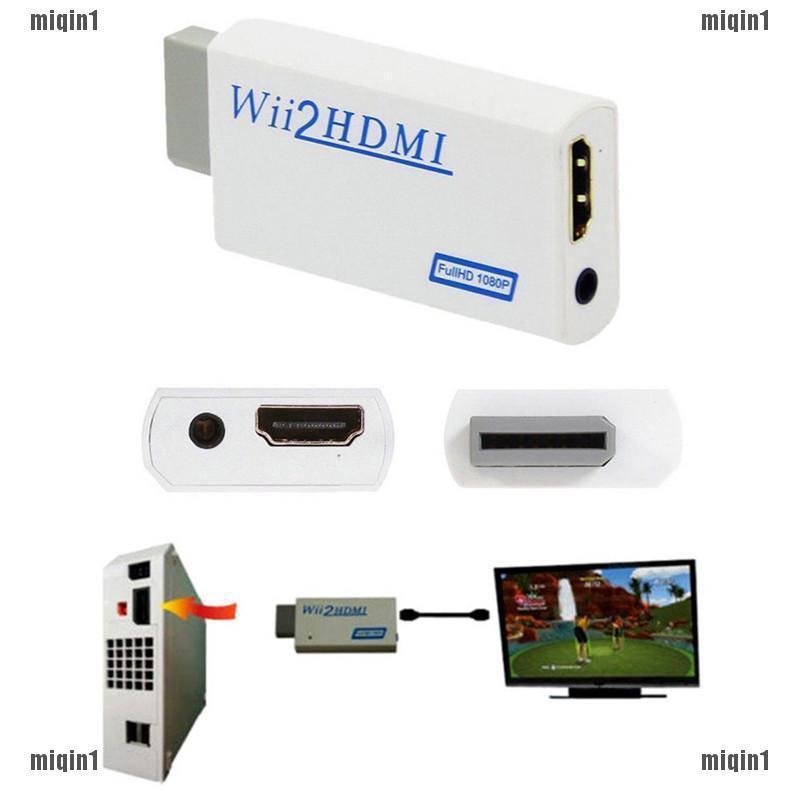 {MQ1}Bộ chuyển đổi từ cổng Wii sang HDMI 1080P / 720P 3.5mm