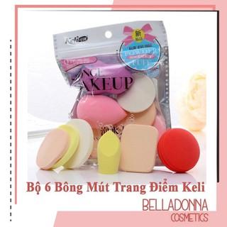 Bộ 6 Bông Mút Trang Điểm Keli Sponge Makeup thumbnail