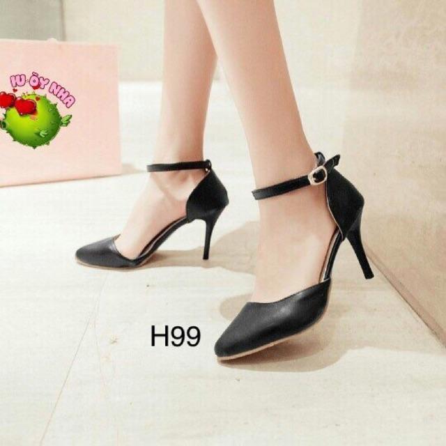 Giày gót nhọn 7cm, bao êm chân