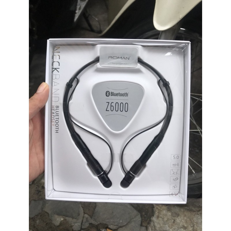 Tai nghe bluetooth Roman Z6000 xịn (bảo hành 6tháng hỏng đổi mới)