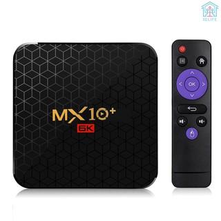 【E&V】MX10 Plus Smart TV Box Android 9.0 Allwinner H6 UHD 4K Media Player 6K Image Decoding 4GB / 32GB 2.4G / 5G WiFi BT4.0 100M LAN USB3.0 H.265 VP9
