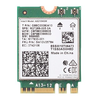 Intel AX210, M.2 wifi card ba băng tần 2.4G, 5.8G và 6G, Wi-Fi 6E tốc độ 5374M, có bluetooth 5.2
