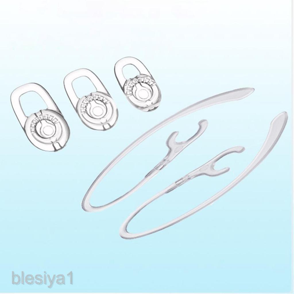 3 miếng gel + 2 móc vành tai phụ kiện cao cấp cho tai nghe Plantronics