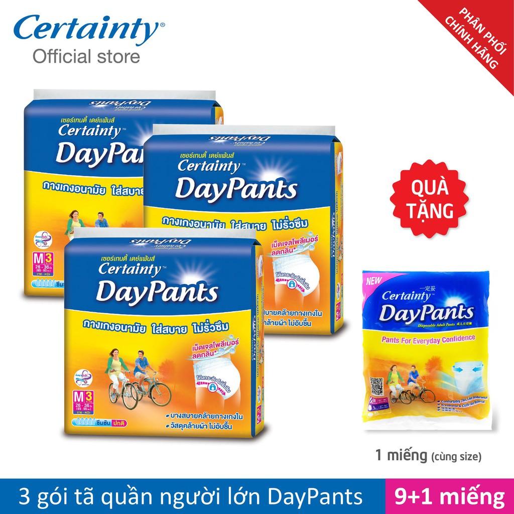 Combo 3 gói tã quần Certainty DayPant M3/L3 Tặng 1 miếng cùng loại