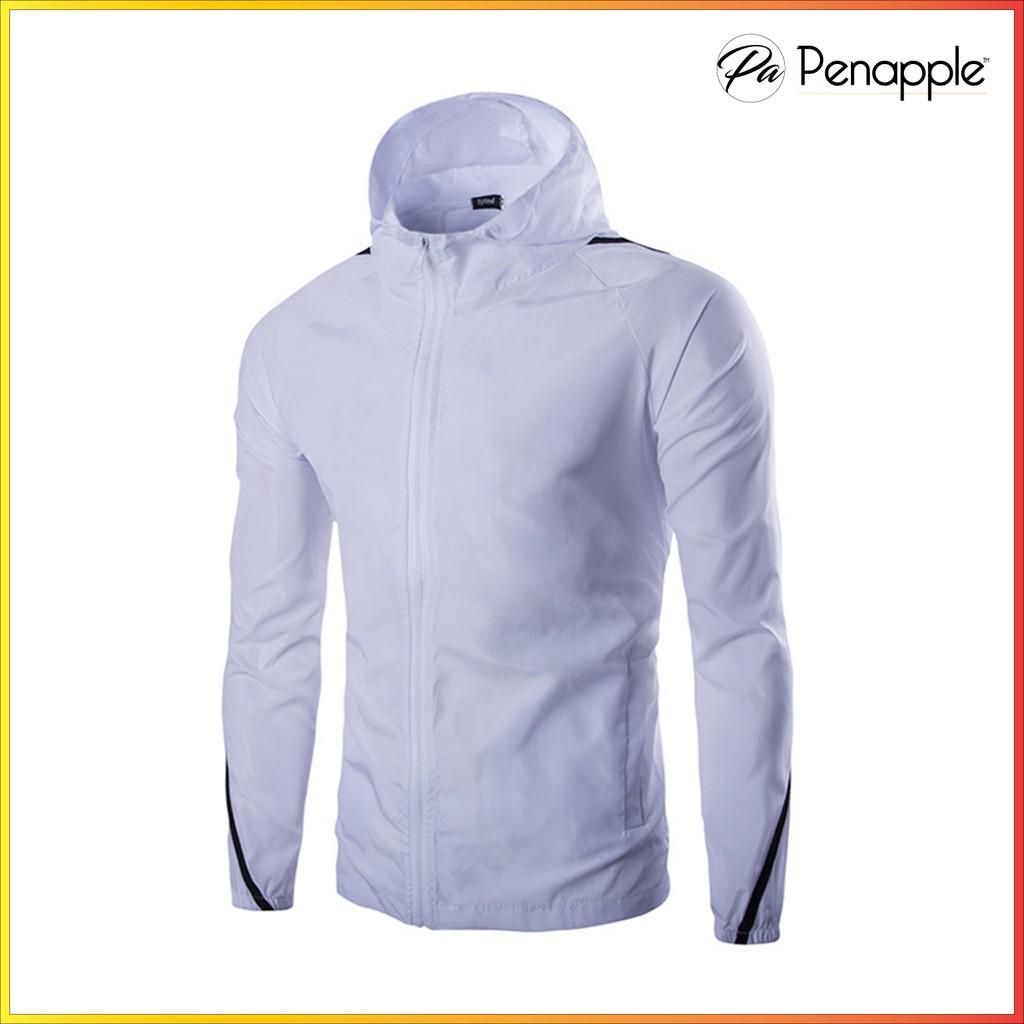 [FREE SHIP] - Áo khoác vải dù thể thao cho nam jacket for men Trắng