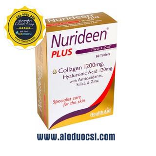 Viên uống Collagen Nurideen Plus HealthAid Hộp 60 viên Chính hãng thumbnail