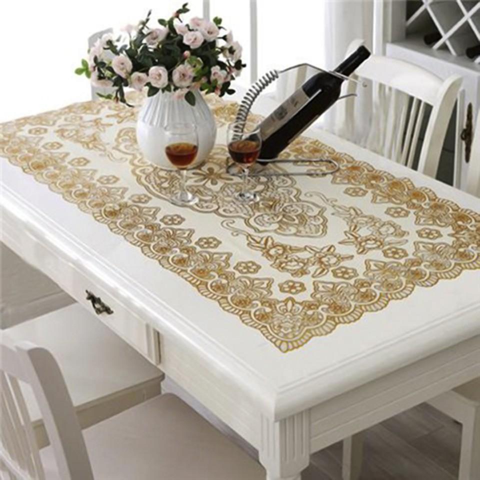 khăn trải bàn dập hoa nổi đủ các kích thước