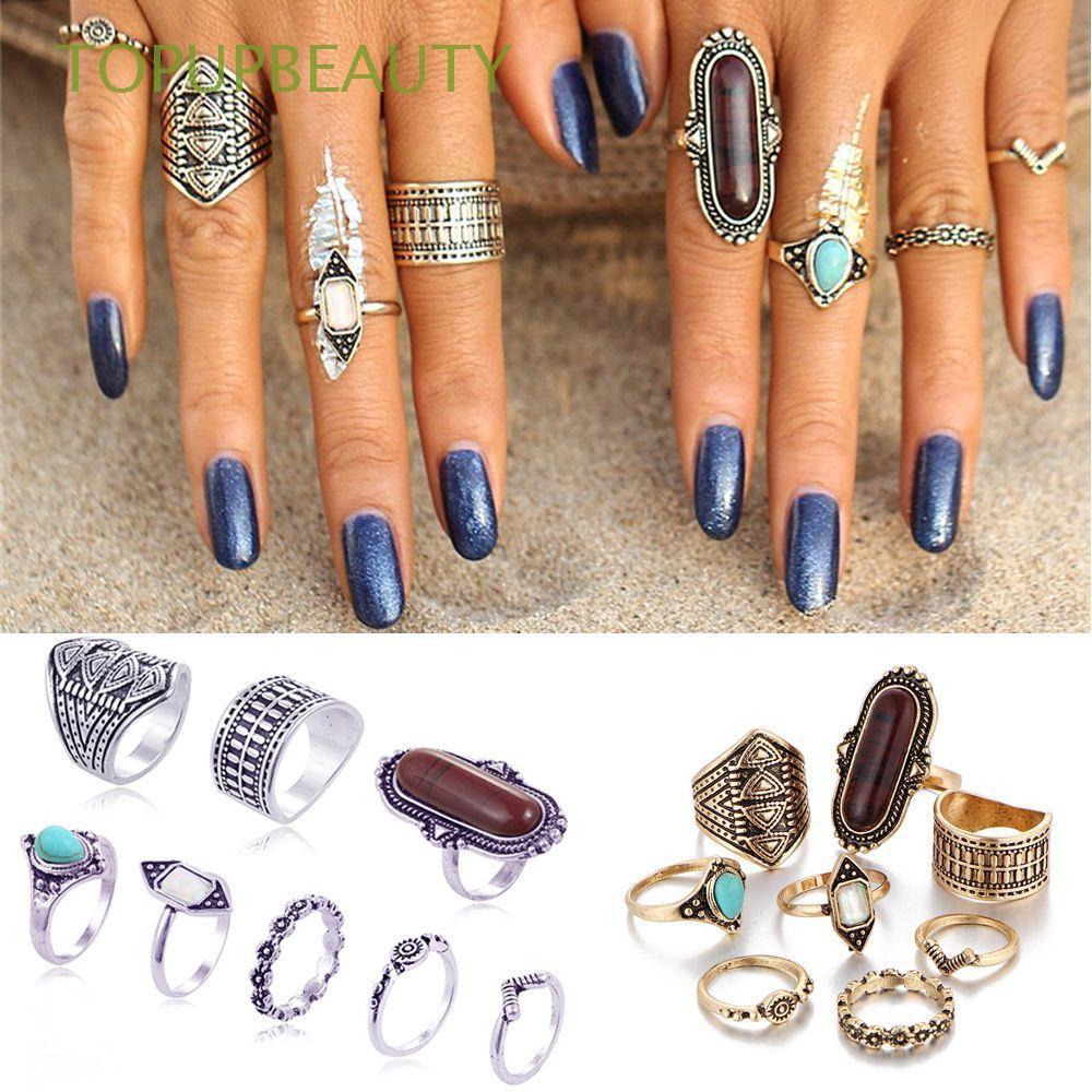 Bộ 8 nhẫn khớp tay kim loại phong cách Boho cổ điển - 14830774 , 1878227717 , 322_1878227717 , 65300 , Bo-8-nhan-khop-tay-kim-loai-phong-cach-Boho-co-dien-322_1878227717 , shopee.vn , Bộ 8 nhẫn khớp tay kim loại phong cách Boho cổ điển