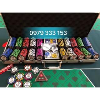 Phỉnh PRO poker 500 chip hàng cao cấp nhập khẩu nguyên set