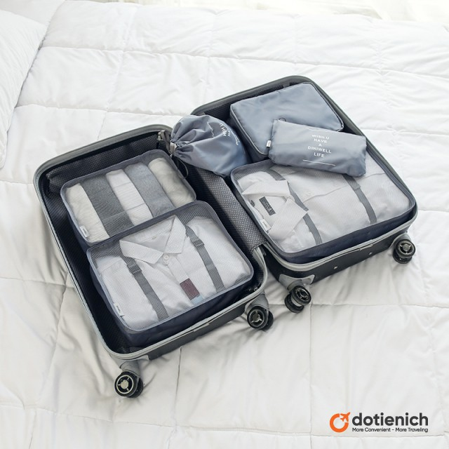 Bộ 6 túi du lịch đa năng Diniwell So Simple Life - Màu Gray