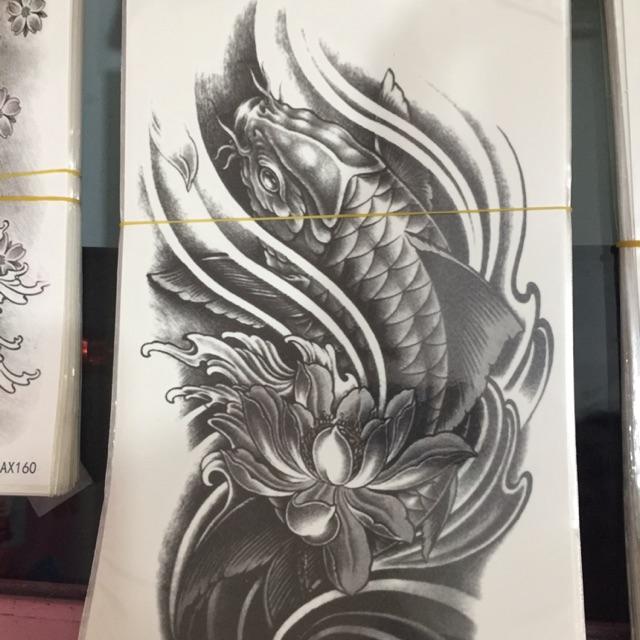 Hình xăm dân cá chép đen trắng - 3397142 , 1082221753 , 322_1082221753 , 15000 , Hinh-xam-dan-ca-chep-den-trang-322_1082221753 , shopee.vn , Hình xăm dân cá chép đen trắng