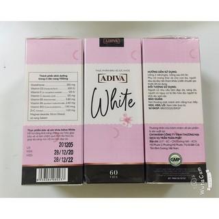 [Mới] White Adiva viên nang (60 viên hộp) - Viên uống làm sáng da và chống nắng toàn thân thumbnail