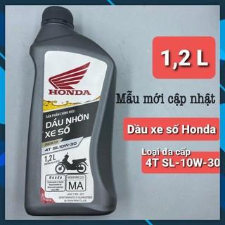 Dầu nhớt Honda xe số, xe côn tay 1.2L cho Winner, xe phân khối lớn & nhiều dòng xe máy Honda lắp chung sp này thumbnail