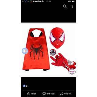 [Nhập mã TOY11FES10 giảm 10%]Bộ siêu nhân người nhện 3 chi tiết hàng hót đẹp