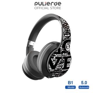 tai nghe chụp tai PULIERDE B1 Bluetooth 5.0 Chụp Tai Có Mic Âm Thanh Hifi Thiết Kế Graffiti Cho Máy Tính PC Điện Thoại
