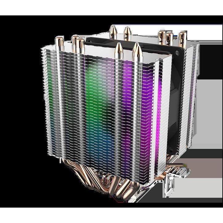 Quạt tản nhiệt  AIGO Darkflash CPU L6 có đèn led hộ trợ sk intel 775 / 115x / 2011 / 1366/2011/AMD/ AM2 / AM3 chính hãng