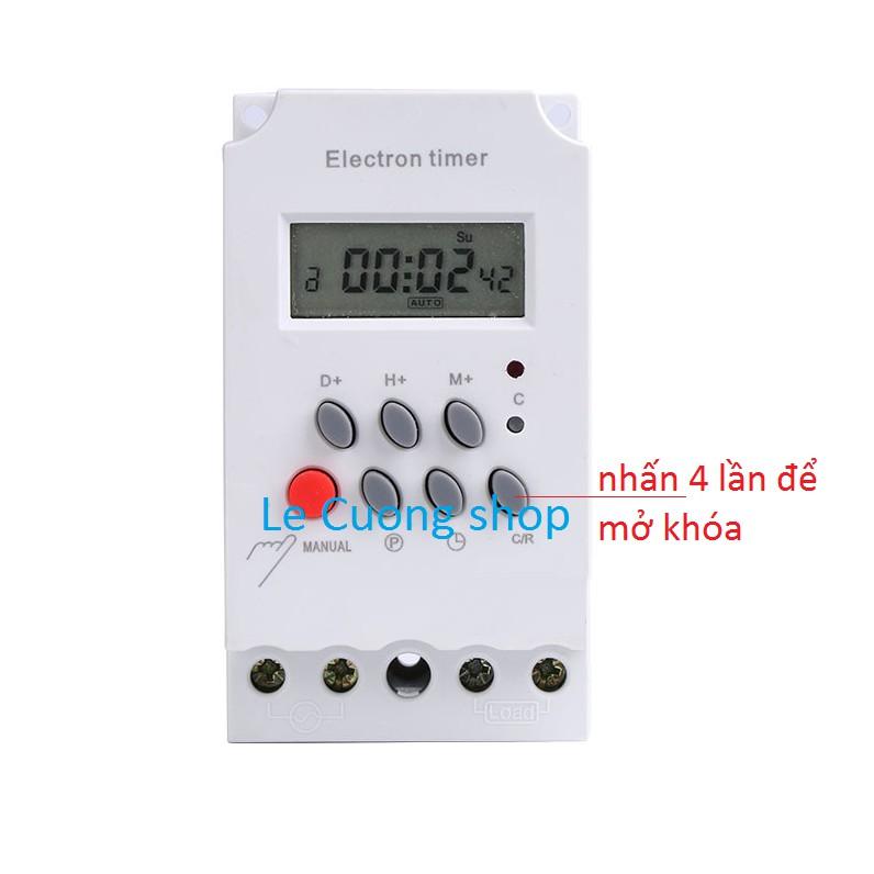 Công tắc hẹn giờ thông minh KG316T-II tắt mở tự động chuẩn công nghiệp 25A(có khóa phím)