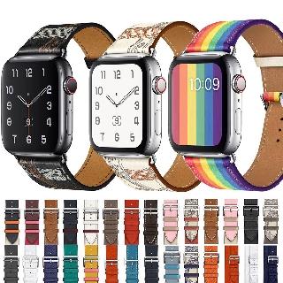 Dây da đeo cổ tay thay thế cho đồng hồ Apple Watch 38mm 42mm 40mm 44mm Series 1 2 3 4 5 SE 6
