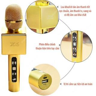 Mic hát kèm Loa Bluetooth x66 cao cấp