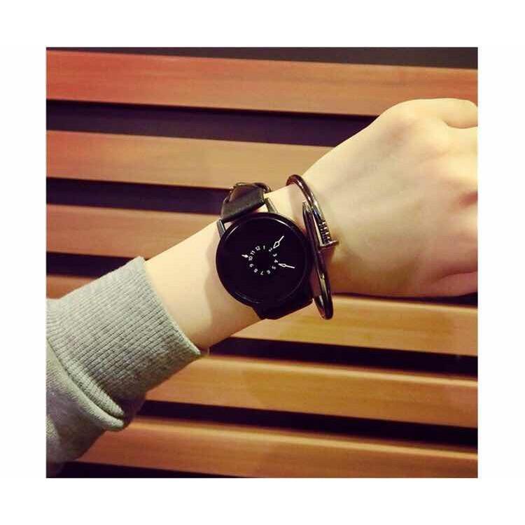 (Giá sỉ) Đồng hồ thời trang nam nữ kim ngược Witan W09