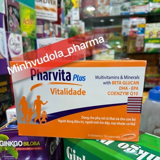 Viên bồi bổ sức khoẻ Pharvita Plus (hộp 60 viên) thumbnail