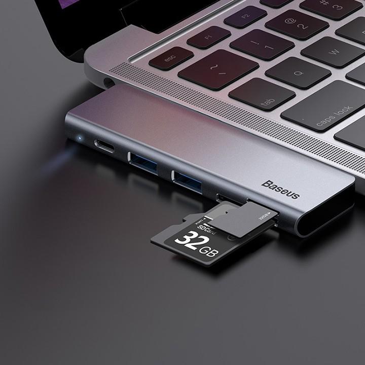 Hub Type-C mở rộng kết nối Macbook và Laptop Baseus