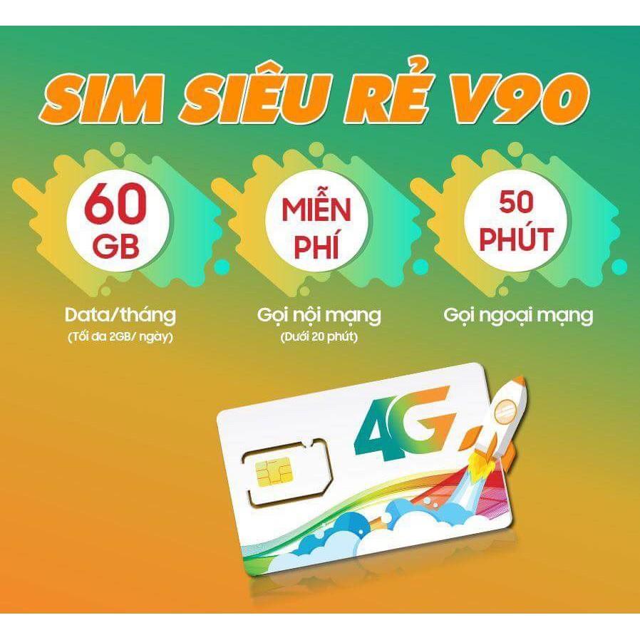 Sim v90 Viettel FreeZone – Dùng được toàn quốc