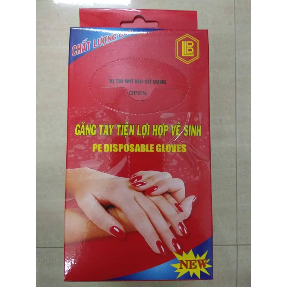 10 hộp găng tay nilon sử dụng 1 lần
