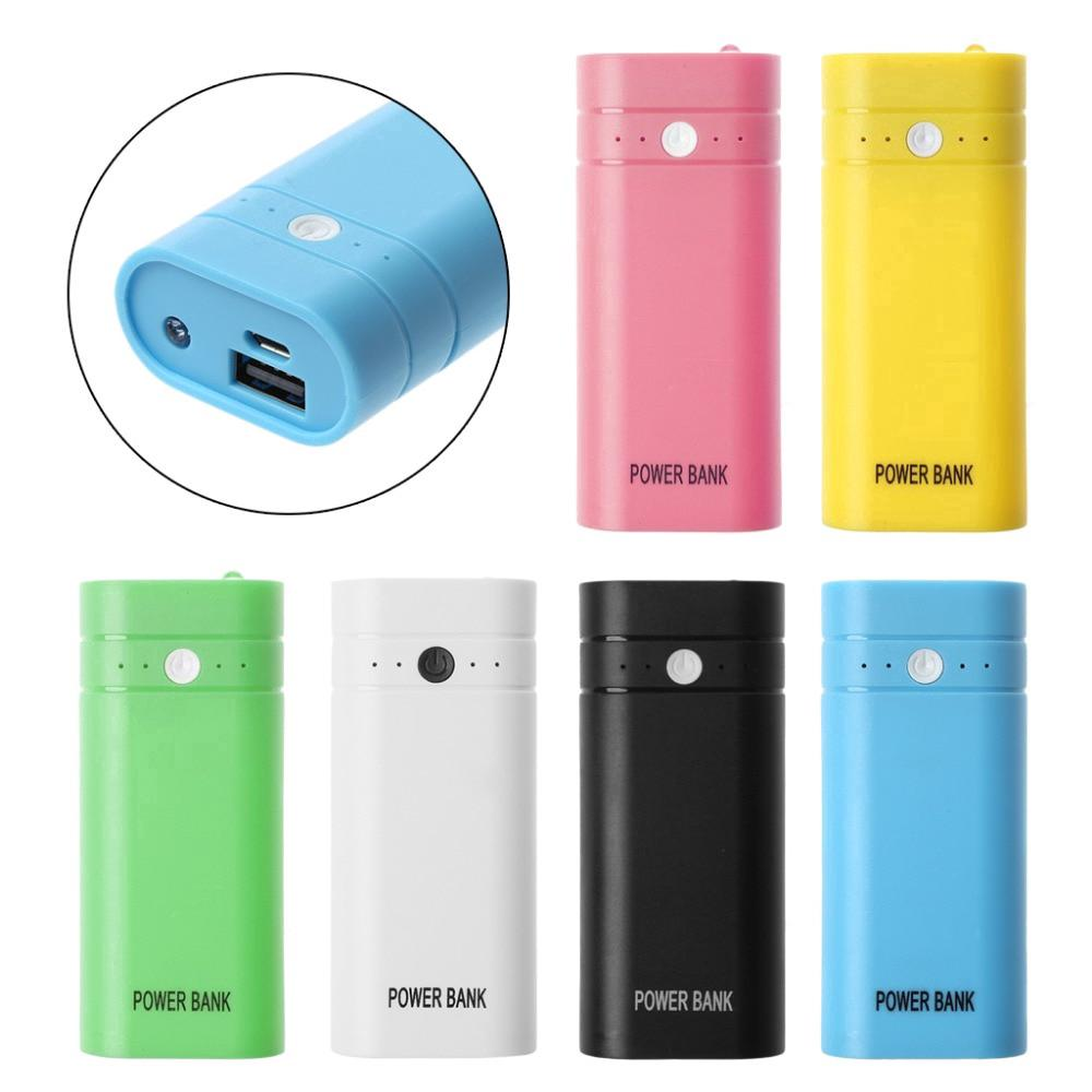 5600mAh Mini USB Port Charger Holder Power Bank Box Shell Case DIY Kit