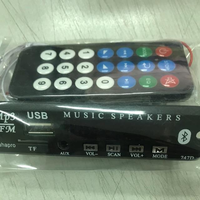 Mạch giải mã âm thanh BLuetooth 2.0, , usb, thẻ nhớ, FM, tặng kèm remote hồng ngoại