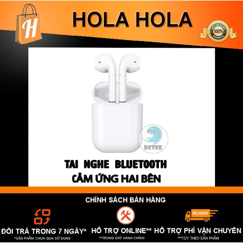 Tai Nghe Bluetooth TWS cảm ứng 2 bên có Mic Hoco ES20 Plus Hộp sạc không dây (trắng)