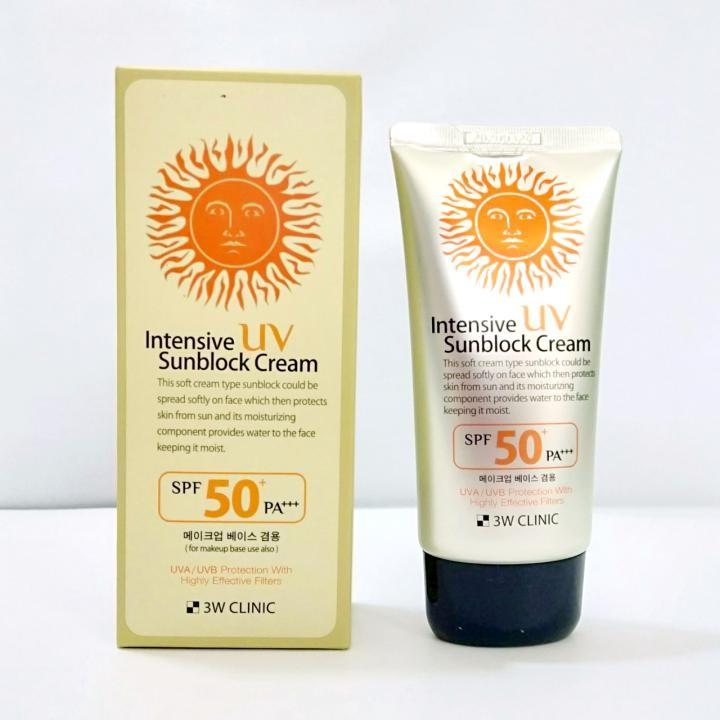 Kem Chống Nắng 3w Clinic Intensive UV Sunblock Cream SPF 50 PA +++
